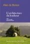 """Couverture du livre : """"L'architecture du bonheur"""""""