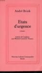 """Couverture du livre : """"États d'urgence"""""""