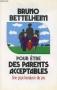 """Couverture du livre : """"Pour être des parents acceptables"""""""