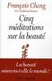 """Couverture du livre : """"Cinq méditations sur la beauté"""""""