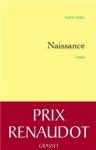 """Couverture du livre : """"Naissance"""""""