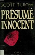 """Couverture du livre : """"Présumé innocent"""""""
