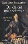 """Couverture du livre : """"Qui étaient nos ancêtres ?"""""""