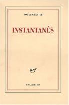 """Couverture du livre : """"Instantanés"""""""