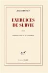 """Couverture du livre : """"Exercices de survie"""""""