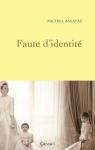 """Couverture du livre : """"Faute d'identité"""""""