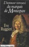 """Couverture du livre : """"L'honneur retrouvé du marquis de Montespan"""""""