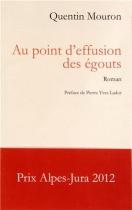 """Couverture du livre : """"Au point d'effusion des égouts"""""""