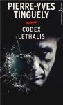 """Couverture du livre : """"Codex lethalis"""""""