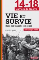 """Couverture du livre : """"Vie et survie dans les tranchées belges"""""""