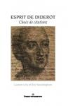 """Couverture du livre : """"Esprit de Diderot"""""""