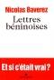 """Couverture du livre : """"Lettres béninoises"""""""