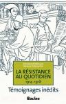 """Couverture du livre : """"La résistance au quotidien"""""""