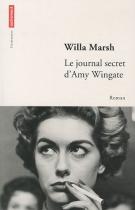 """Couverture du livre : """"Le journal secret d'Amy Wingate"""""""