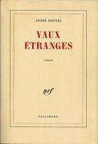 """Couverture du livre : """"Vaux étranges"""""""