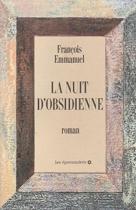 """Couverture du livre : """"La nuit d'obsidienne"""""""