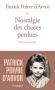 """Couverture du livre : """"Nostalgie des choses perdues"""""""