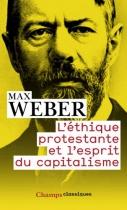 """Couverture du livre : """"L'éthique protestante et l'esprit du capitalisme"""""""