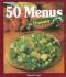 """Couverture du livre : """"50 menus en 30 minutes"""""""