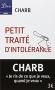 """Couverture du livre : """"Petit traité d'intolérance"""""""