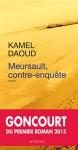 """Couverture du livre : """"Meursault, contre-enquête"""""""