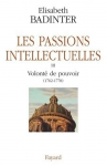 """Couverture du livre : """"Les passions intellectuelles"""""""