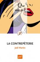 """Couverture du livre : """"La contrepèterie"""""""