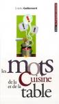 """Couverture du livre : """"Les mots de la cuisine et de la table"""""""
