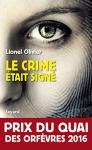 """Couverture du livre : """"Le crime était signé"""""""