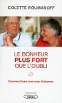 """Couverture du livre : """"Le bonheur plus fort que l'oubli"""""""
