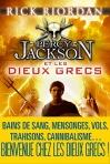 """Couverture du livre : """"Percy Jackson et les dieux grecs"""""""