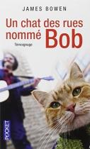 """Couverture du livre : """"Un chat des rues nommé Bob"""""""