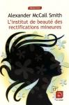 """Couverture du livre : """"L'institut de beauté des rectifications mineures"""""""