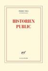 """Couverture du livre : """"Historien public"""""""