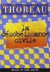 """Couverture du livre : """"La désobéissance civile"""""""
