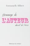 """Couverture du livre : """"Hommage de l'auteur absent de Paris"""""""