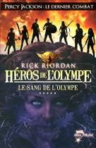 """Couverture du livre : """"Le sang de l'Olympe"""""""
