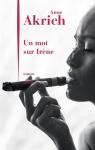 """Couverture du livre : """"Un mot sur Irène"""""""