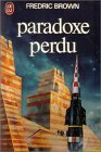 """Couverture du livre : """"Paradoxe perdu"""""""