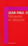 """Couverture du livre : """"Mémoire et identité"""""""