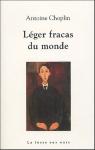"""Couverture du livre : """"Léger fracas du monde"""""""