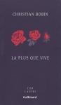"""Couverture du livre : """"La plus que vive"""""""