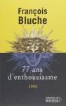 """Couverture du livre : """"77 ans d'enthousiasme"""""""
