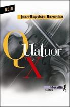 """Couverture du livre : """"Quatuor X"""""""