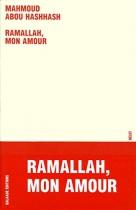"""Couverture du livre : """"Ramallah, mon amour"""""""