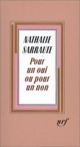 """Couverture du livre : """"Pour un oui ou pour un non"""""""