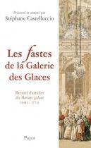 """Couverture du livre : """"Les fastes de la Galerie des glaces"""""""