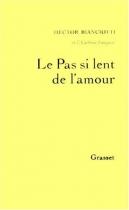 """Couverture du livre : """"Le pas si lent de l'amour"""""""