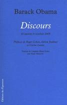 """Couverture du livre : """"Discours"""""""
