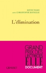 """Couverture du livre : """"L'élimination"""""""